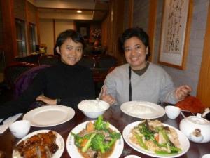chinese food: duck roasted, cap cay, bakmi goreng